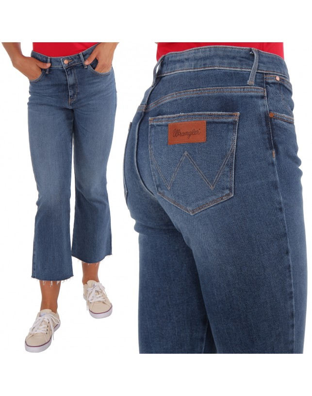 JEANSY WRANGLER CROPPED FLARE DANCING DAYS W23070016