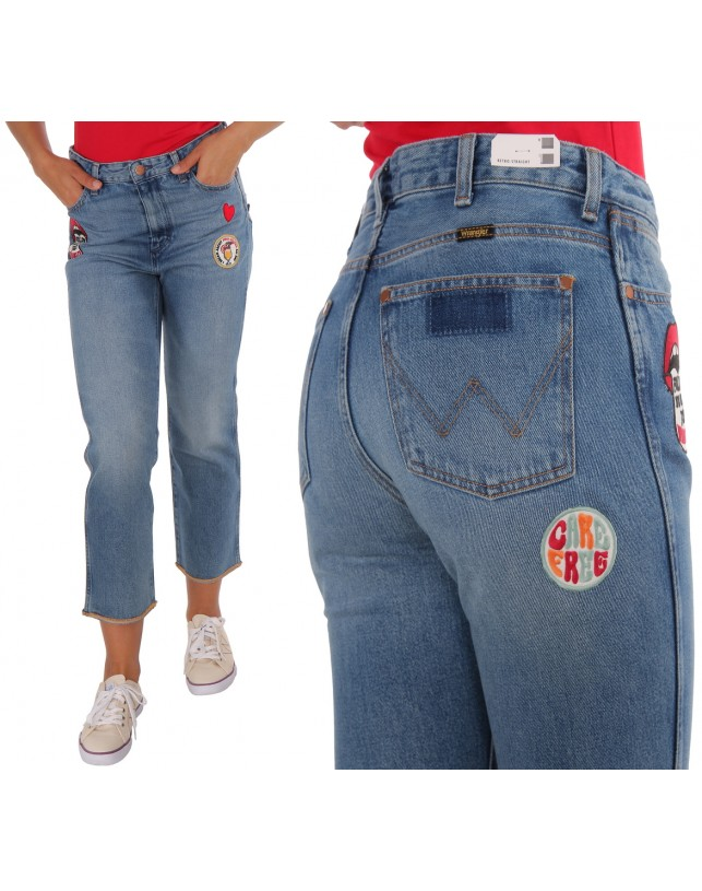 JEANSY WRANGLER RETRO STRAIGHT BURNING GIRL W238GF11X