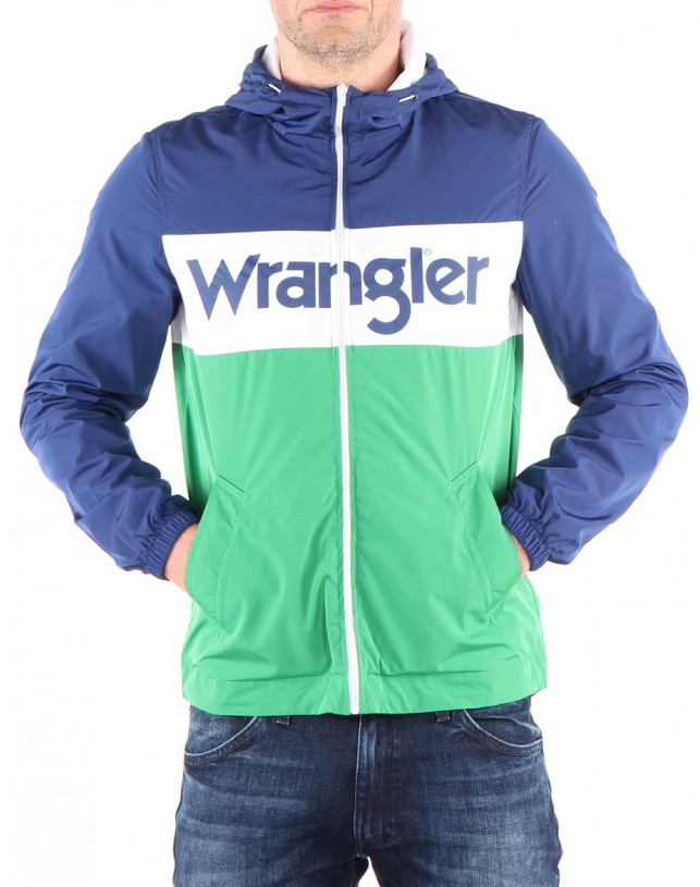 KURTKA WRANGLER WALLY WIND BREAKER BLUE DEPHTS W4707V9JY