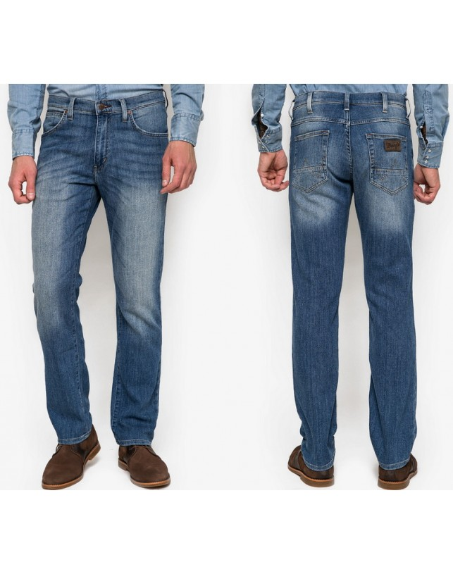 Wrangler Arizona Midblue Flax Jeans