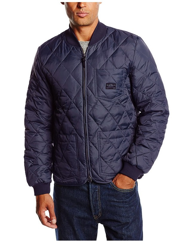 Kurtka Lee Quilted Down Bomber Granat